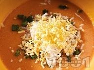 Крем супа от червена леща и тофу